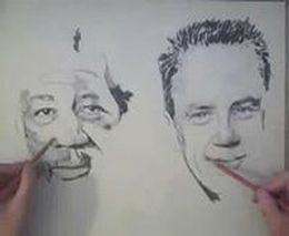 Рисует