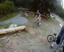 Неудачный трюк на горном велосипеде (3.364 MB)