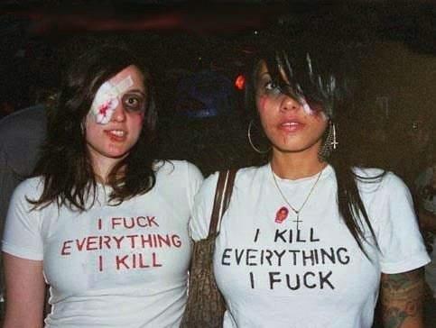 Прикольные надписи на футболках девушек (38 фото)
