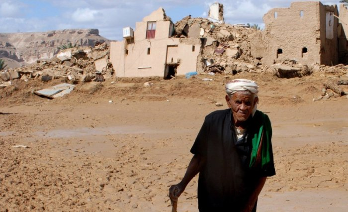 Тропический шторм в Йемене (21 фото)