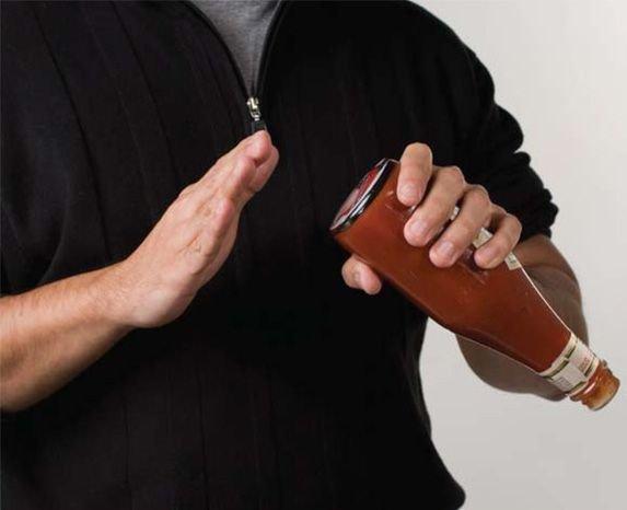 Классная штука для утылки с кетчупом (6 фото)