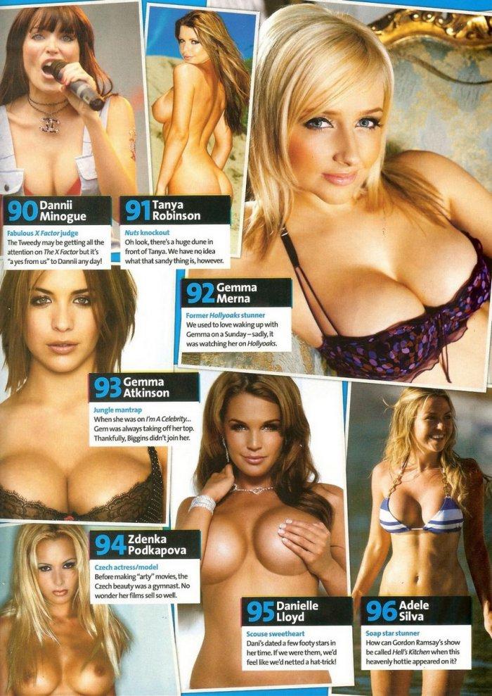 Sophie Howard и 100 девочек с большой грудью от журнала Nuts! (20 фото)