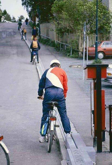 Лифт для велосипедистов (11 фото)