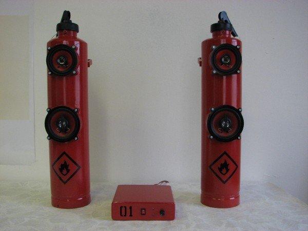 Динамики из огнетушителя (20 фото)