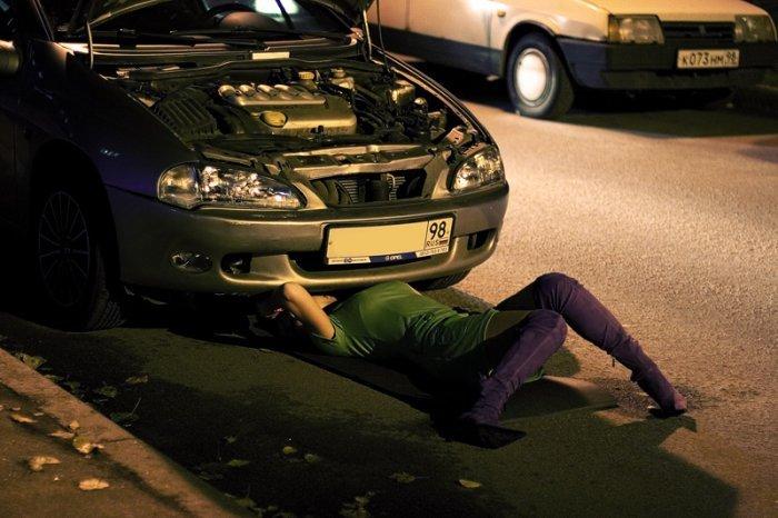 Сломалась машина (5 фото)
