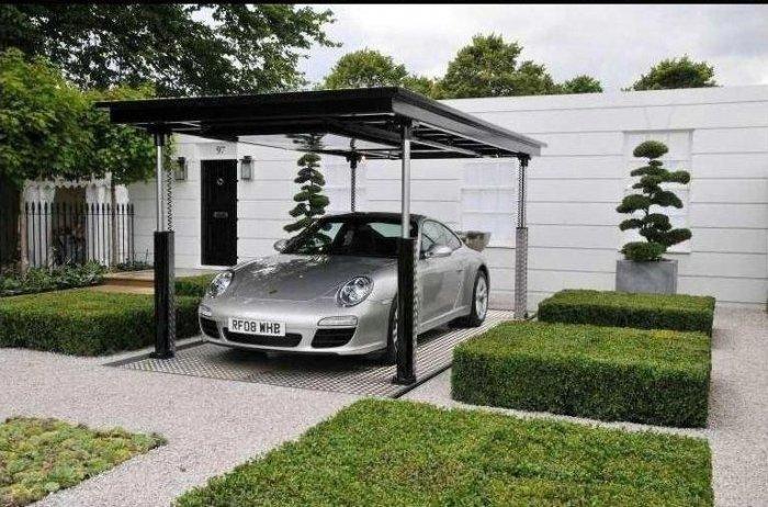 Креативный гараж (6 фото)