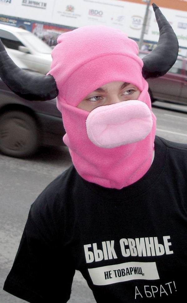 Будь человеком за рулем, а не свиньей (5 фото)