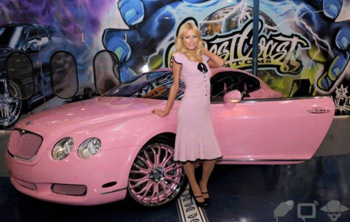 У Пэрис Хилтон новая машина (23 фото)