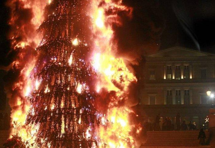 Беспорядки в Афинах (16 фото)