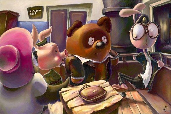 Винни-Пух и его друзья как герои разных фильмов:-) (29 фото)