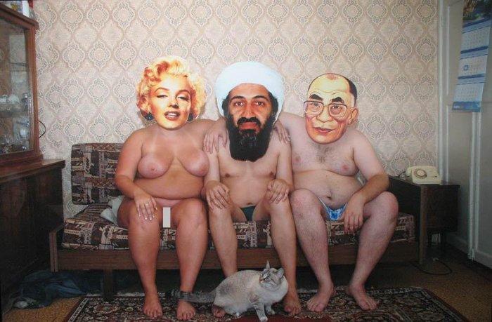 Фотожабим знаменитостей с эротикой (19 фото)