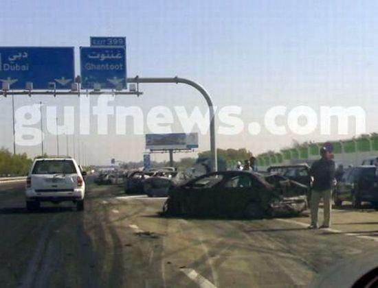 Чудовищное дтп в Объединенных Арабских Эмиратах (20 фото)