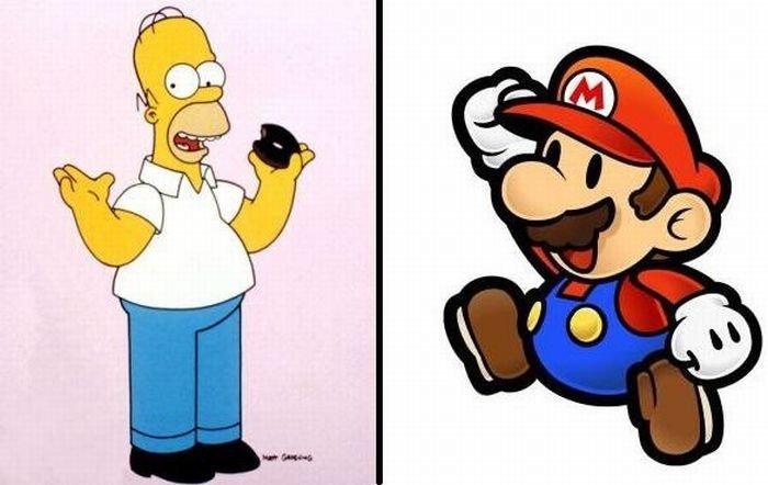 Как бы выглядели Гомер и Марио в реальной жизни! (3 фото)