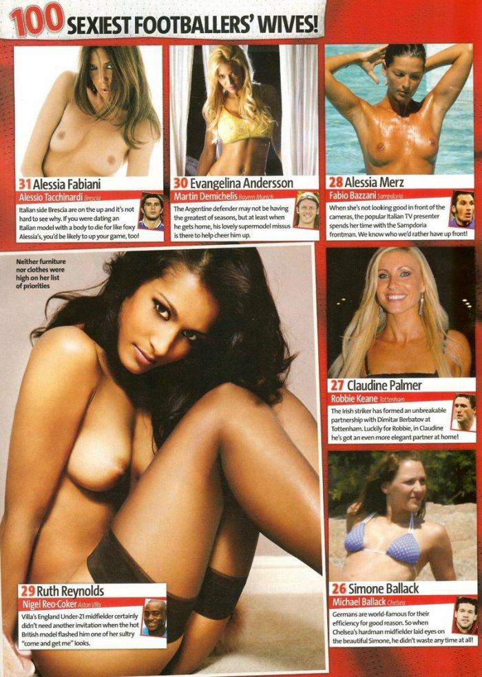 100 самых сексуальных жен футболистов (19 фото)