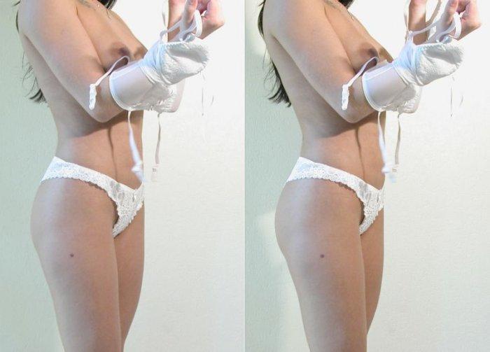 Объемные изображения девушки (8 фото)