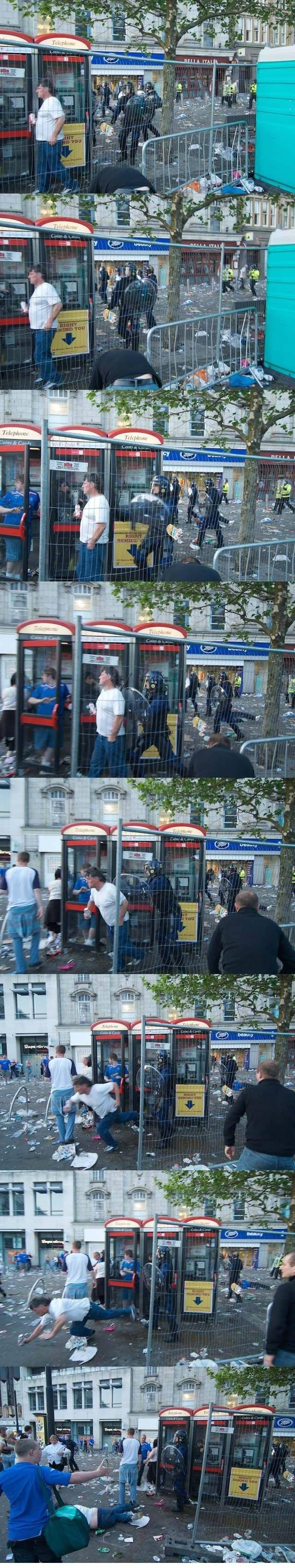 Британская полиция снова беспределит (8 фото)