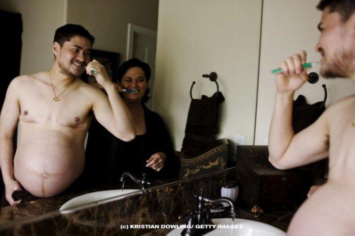 Беременный мужик (11 фото)