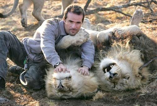 Человек, который дружит с крупными хищниками (14 фото)