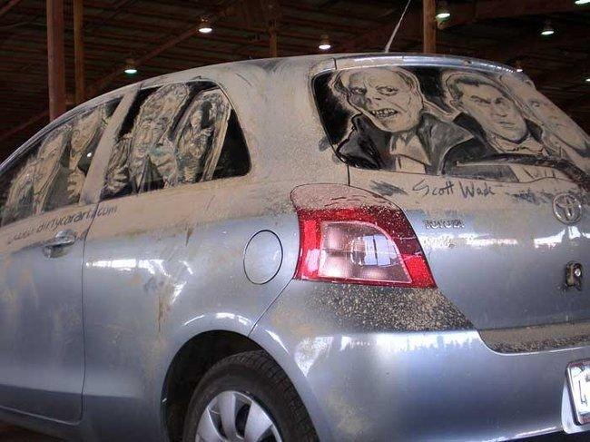 Мастерство рисования на грязных машинах (32 фото)