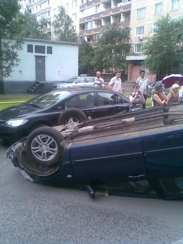 Пьянь за рулем (4 фото + текст)