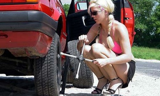 Девушки + автомобили (17 фото)