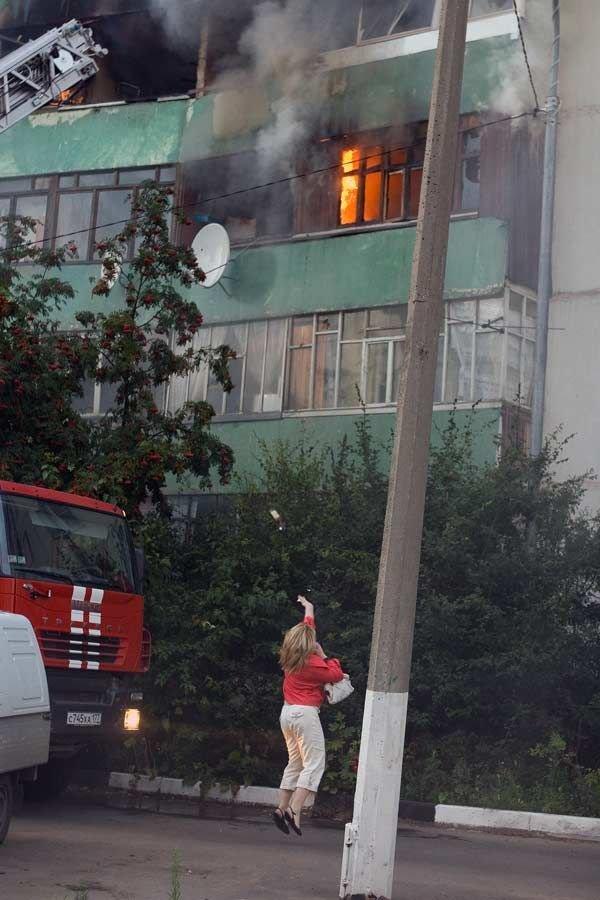 Пожар в Одинцово (20 фото)