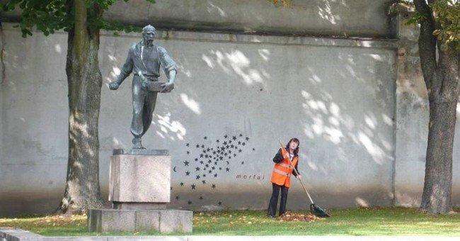 Креативная статуя (2 фото)