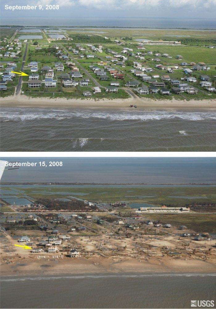 Последствия урагана Айк (4 фото)