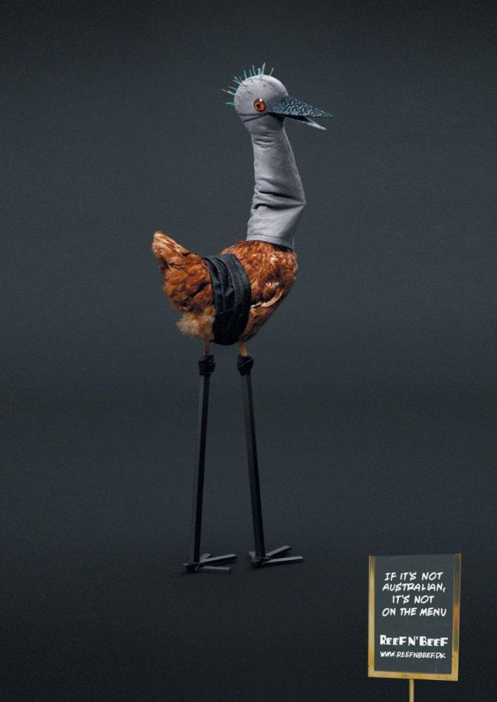 Креативная реклама автралийского ресторана (3 фото)