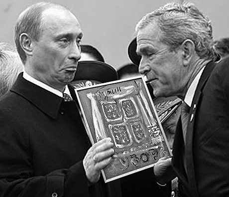 Фотожабы на картину Путина (75 фото)