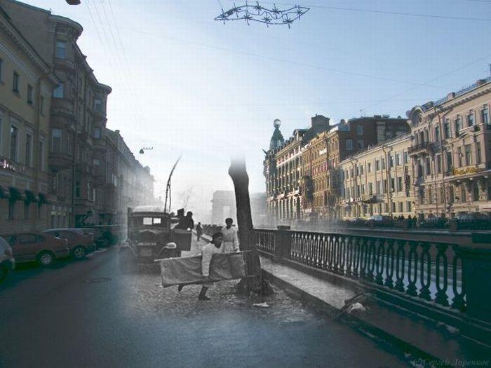 Память о блокаде Ленинграда (17 фото)