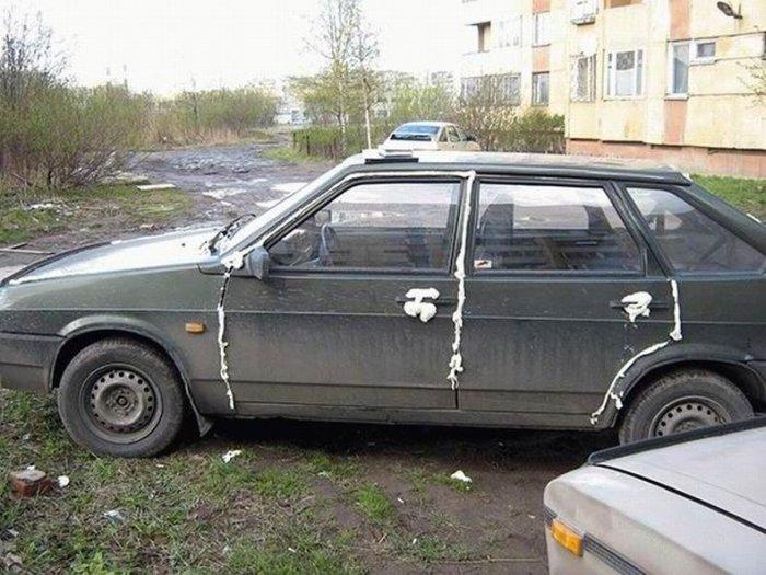 Месть на автомобилях (55 фото)