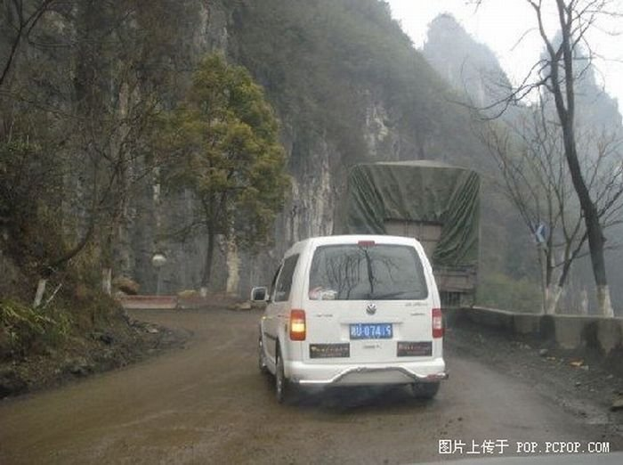 Федеральная трасса 319 в Китае (14 фото)