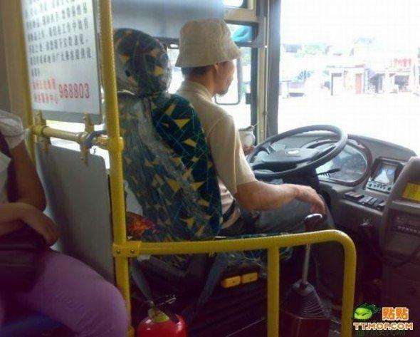 Водители автобусов в Китае (8 фото)