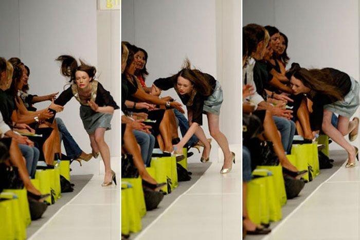 Неудачные выходы на подиум (11 фото)