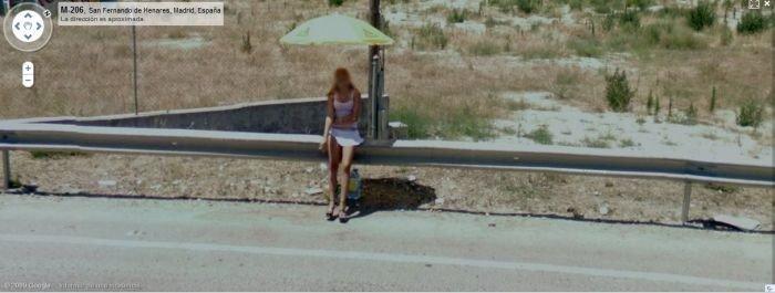 Проститутки на Google Street View (24 фото)