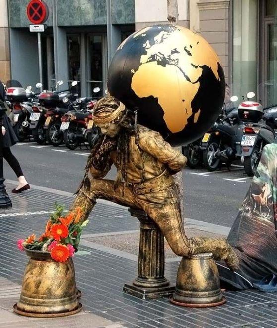 Живые статуи (41 фото)