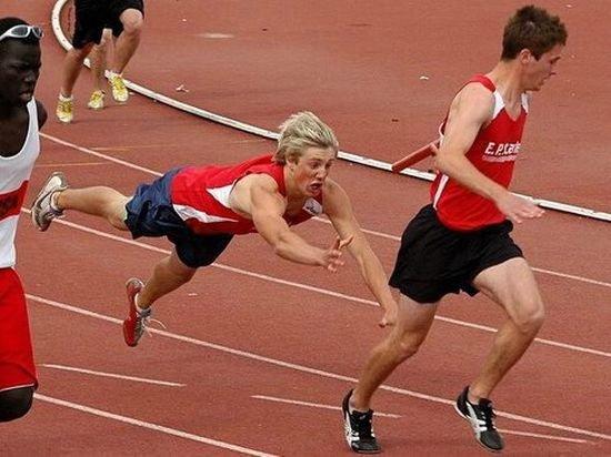 Прикольные спортивные фотографии (90 фото)