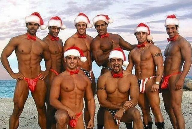 Рождественские и новогодние парни (117 фото)