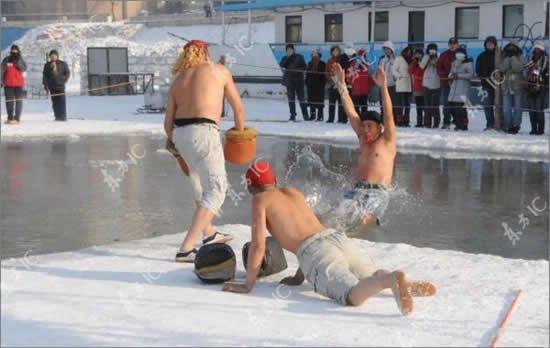Бокс на льдине (4 фото)