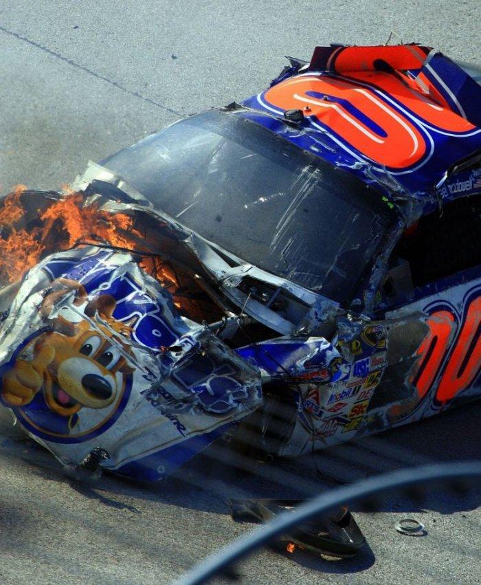 Аварии в NASCAR (35 фото)