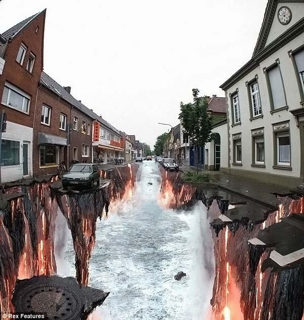 Разрисовали улицу (8 фото)