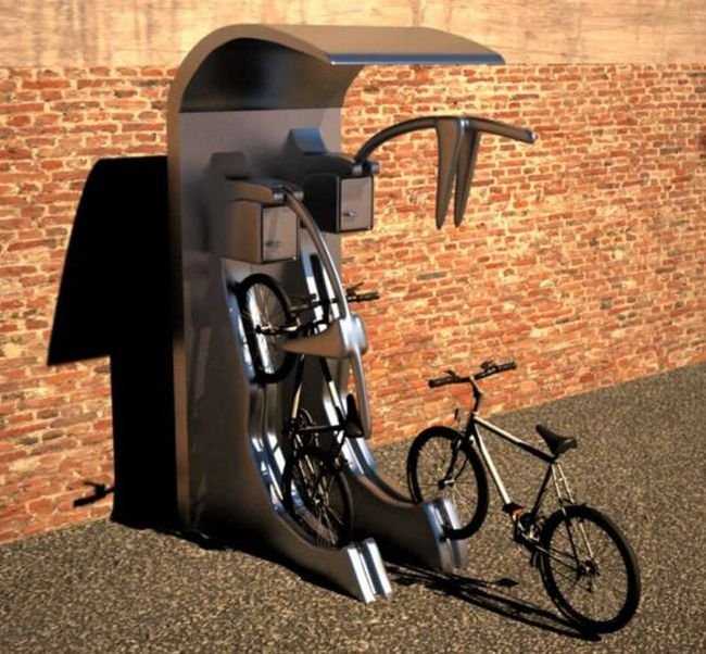 Новая парковка для велосипедов (3 фото)