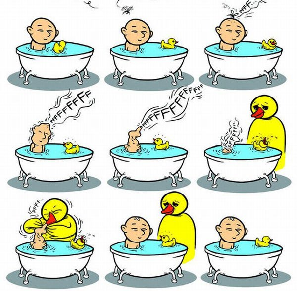 Купание в ванной (2 фото)