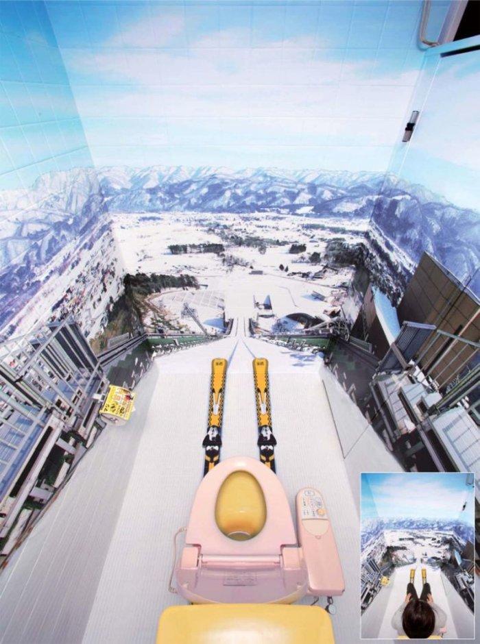 Мегакреативная туалетная кабинка (3 фото)