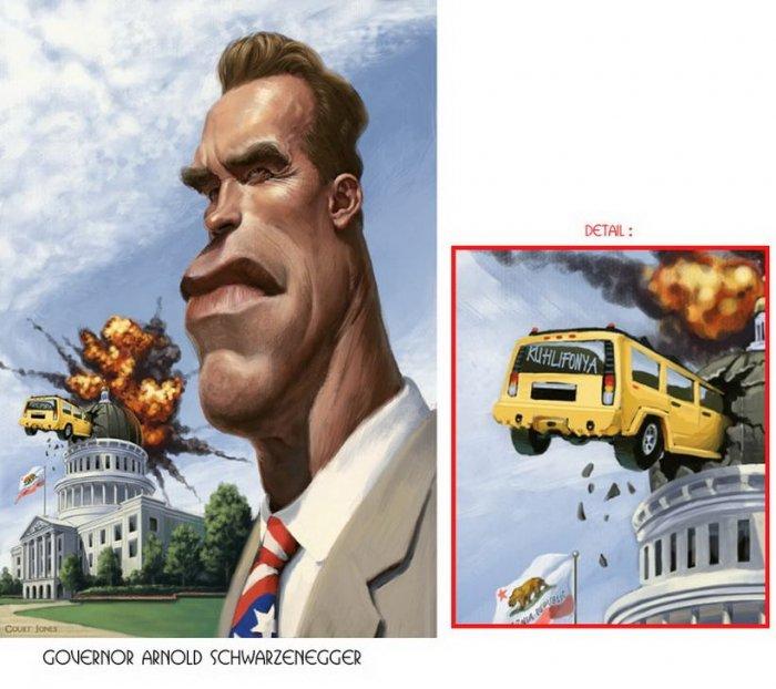 Карикатуры на знаменитостей (30 фото)