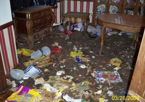 Угадайте, почему в этой квартире так грязно (4 фото)