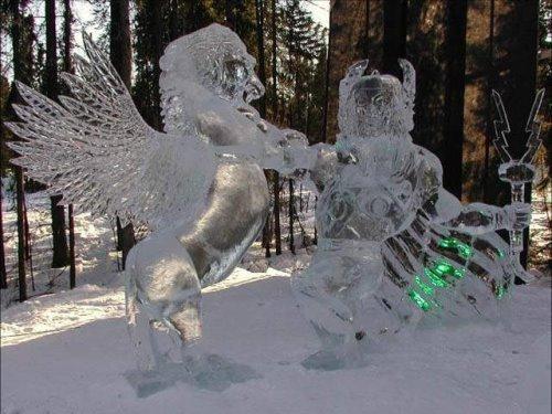 Работы из песка, льда и снега (15 фото)