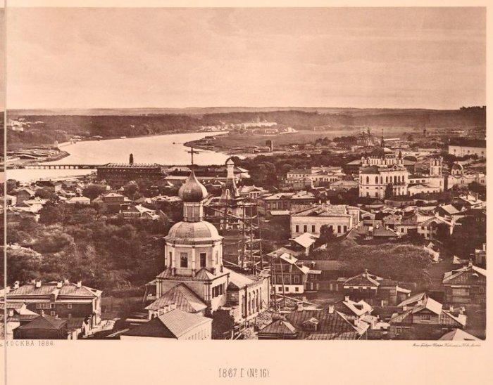 Вид с Храма Христа Спасителя в 1867 году (17 фото)