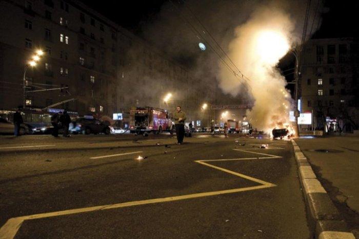 Авария с Ламборгини в Москве (27 фото)